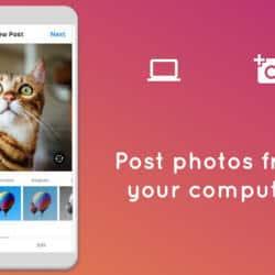 instagram on computer