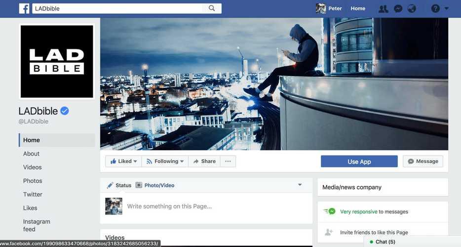 facebook page public