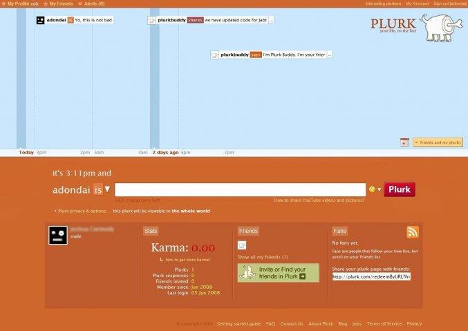 plurk dashboard